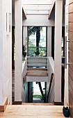 Stairwell with window in architect-designed house