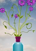 Flowers in a vase (print)
