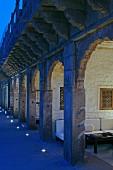 Abendstimmung beim Hotel Raas Haveli, Jodhpur, Indien