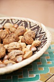 Selection of nuts in a basket