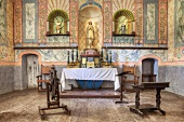 Altar in church (Mission La Purisima State Historic Park, Lompoc, California)