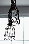 Lamps with black wire lampshades