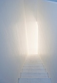 Interior staircase in Tower Studio, Fogo Island, Canada