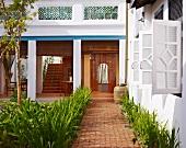 Courtyard of 23 Love Lane Hotel, Georgetown, Penang, Malaysia