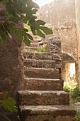 Street Scene with Steps on Ortigia Island in Siracusa, Sicily