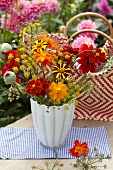 Summer bouquet of garden flowers