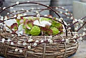 Willow wreath with catkins and asclepia pods