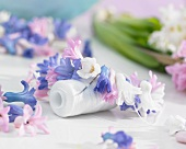 Garland of fragrant hyacinth florets