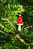 Christmas tree ornament - toadstool