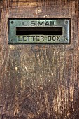 Old, weathered letter box (USA)
