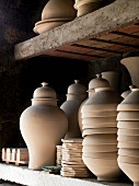 Pottery vessels ready to be glazed (Fez, Morocco)