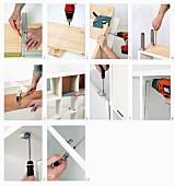 Assembling a shelf unit