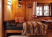 Bedroom in Alpine cabin