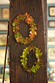 Wreaths of autumnal leaves