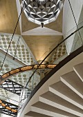 The Museum of the Islamic Art - staircase in atrium