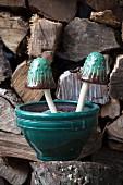 Ceramic Mushroom Garden Decor
