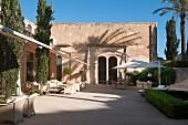 Terrace of Hotel Cap Rocat (Palma de Mallorca, Spain)