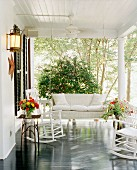 White porch in American South
