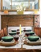 Set table for meal
