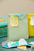 Paper bags with hand-crafted gift tags