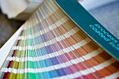 Fan of colour charts (close-up)