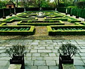 French-style gardens with topiary hedges