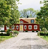 The exterior of a country house, Sweden