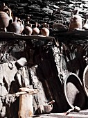 Old rustic kitchen equipment still used in Georgian villages.