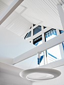 Home interior, a ceiling with a roof ridge, Sweden