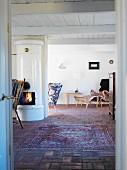 Interior of a house, Skane, Sweden.