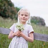 Portrait of a blond girl, Sweden.