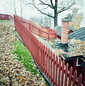 A red fence, Sweden.
