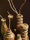 Brown ceramic vases
