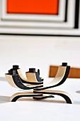 Multi-armed wooden candelabra