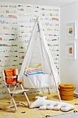 Nursery with cradle & Tripp Trapp highchair