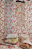 Mixture of fabrics in classic rose patterns
