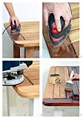 Sanding & varnishing a wooden table