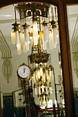Art deco chandelier in hotel
