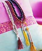 Handmade bead necklaces (India)