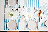 Table set with handmade placemats & coasters