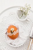 Easter place setting with egg