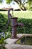Old hand pump in garden