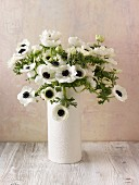 Bouquet of white anemones