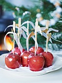 Toffee apples for Christmas