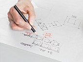An architect sketching a plan