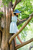 A girl in a tree
