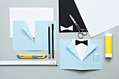 Craft utensils for making elegant invitation cards to stag party