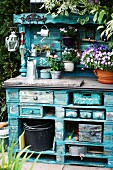 DIY potting table made from pallets