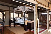 A luxury tent in the 'Boulders Safari Camp', Wolwedans, NamibRand Nature Reserve, Namibia, Africa