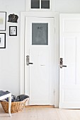 White interior doors with vintage fittings